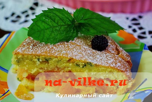 Сочный тирольский пирог с абрикосовой начинкой в домашних условиях