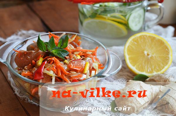 Готовим полезный салат из соленой горбуши