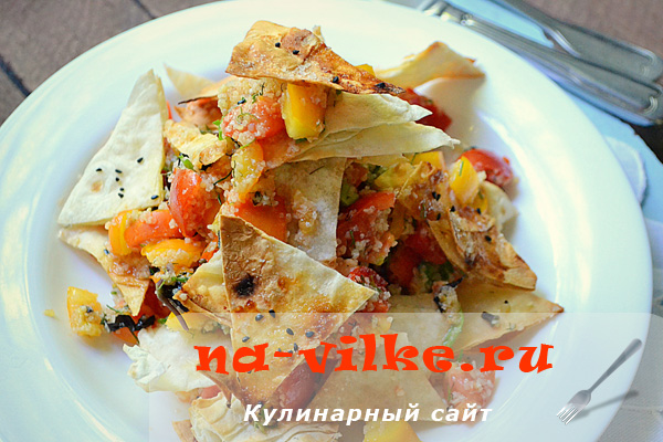 Готовим сытный и вкусный салат Табуле с добавлением лаваша