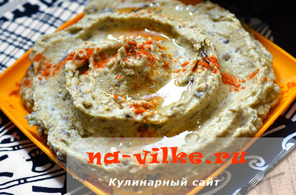 Рецепт пасты из баклажанов с чесноком