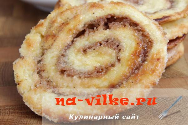 Рецепт печенья из слоеного бездрожжевого теста