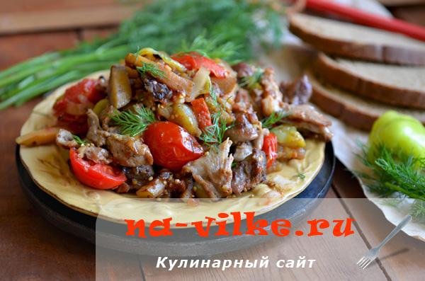 Тушим молодую баранину с овощами вкусно и быстро