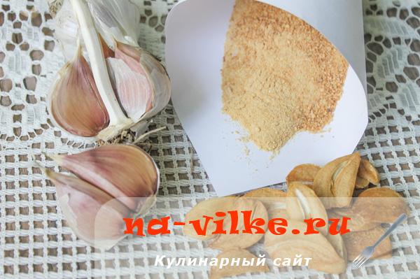 Сушеный чеснок (приправа и ломтики)