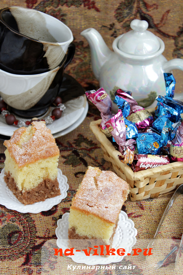 Кокосово–шоколадный пирог
