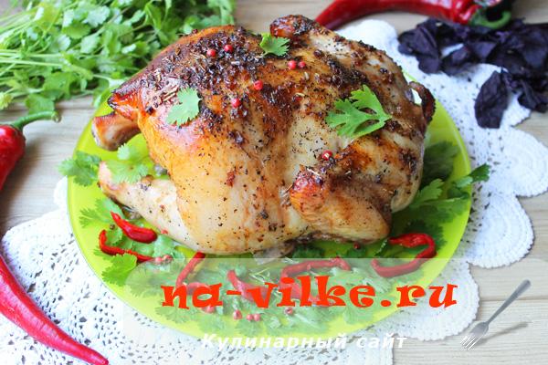 Запеченная целиком курица – экзотика Востока на вашем столе