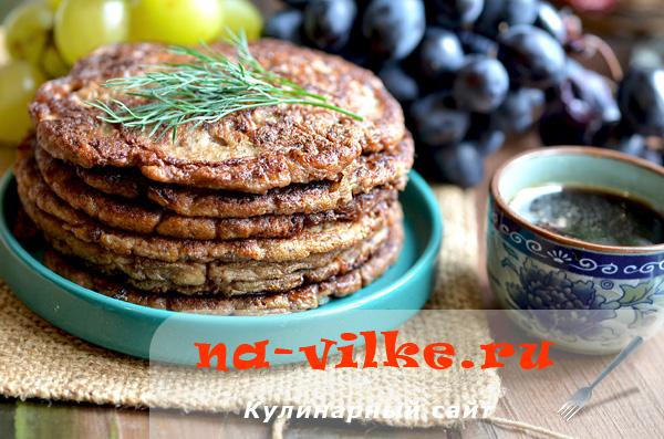 Жареные печеночные оладьи на сковороде