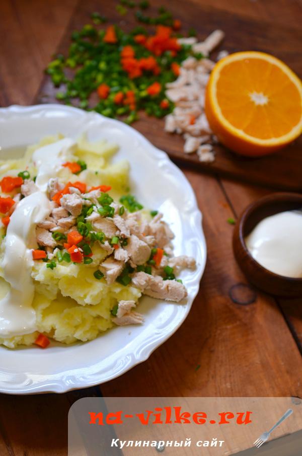 Картофельное пюре со сметаной