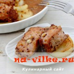 Шашлык из свиного мяса в духовке