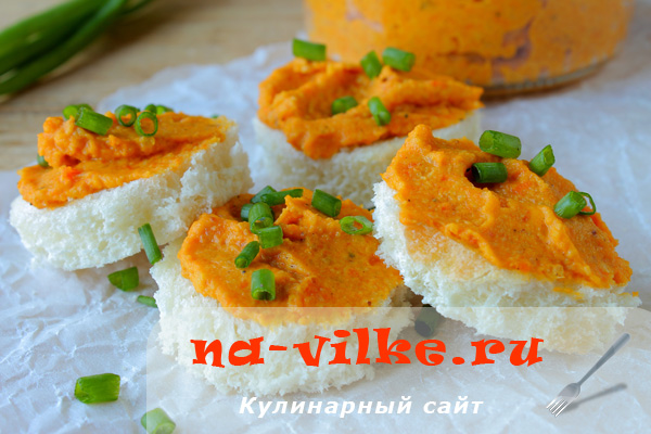 Домашний паштет из овощей с орехами