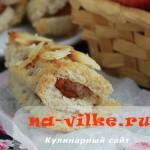 Быстрые хлебные рулетики с яблочной начинкой в духовке