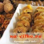 Домашняя чурчхелла из грецких орехов и виноградного сока