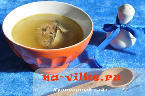 Суп из консервированной сардины в мультиварке