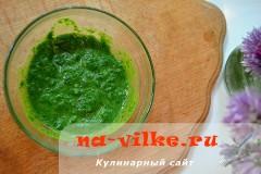Сэндвич с овощами и шпинатным соусом – кулинарный рецепт
