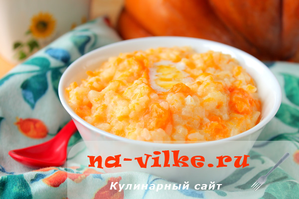 Тыквенная каша с рисом на молоке в мультиварке Редмонд