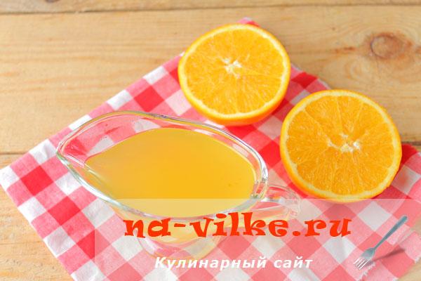 Апельсиновая пропитка для торта