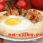 Выпекаем деревенский пирог с мясом и яйцом