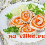 Мясной рулет из кроличьей брюшины и морковки с чесноком