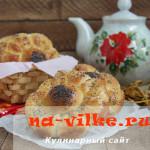 Вкусные булочки из дрожжевого теста с сыром и маком
