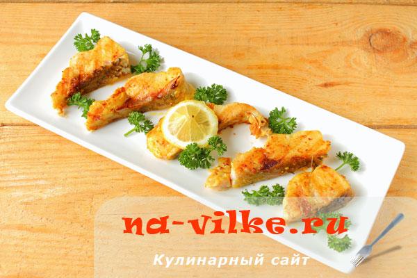 Жареная рыба жерех на сковороде гриль