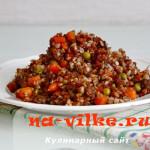 Вкусная гречка с говядиной и овощами в мультиварке