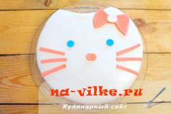 Бисквитный торт с мастикой Hallo Kitty