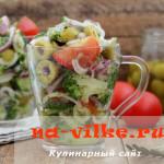 Вкусный овощной салат с растительным маслом