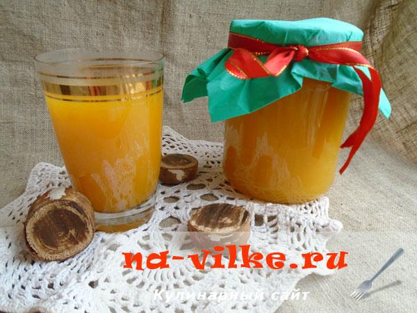 Тыквенный сок с лимонной кислотой на зиму