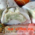 Праздничный рецепт нежного рулета из куриной грудки с сыром