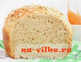 Хлеб заварной с морковью и хлопьями