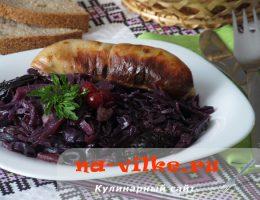 Гарнир из краснокачанной капусты - чешская кухня