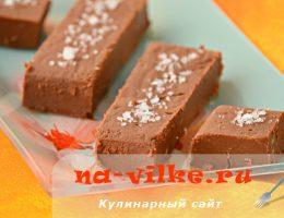 Пирожные с каштанами Шоколадные брусочки с Флёр де сель