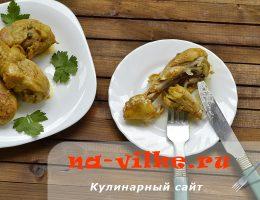 Куриные голени, приправленные ароматным карри