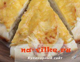 Запекаем лепешку с начинкой из яблок и сыра