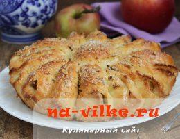Выпекаем отрывной яблочный пирог для всей семьи