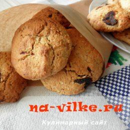 Вкусное и диетическое овсяное печенье