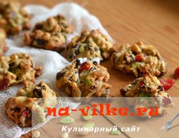 Рассыпчатое флорентийское печенье с орехами и сухофруктами