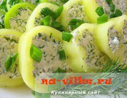 Закуска Болгарский перец с творожной начинкой