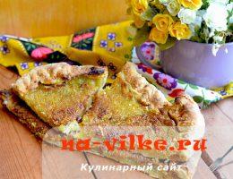 Пирог из слоеного теста с джемом из кабачка и лимона