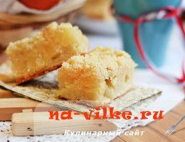 Вкусный пирог с консервированным ананасом