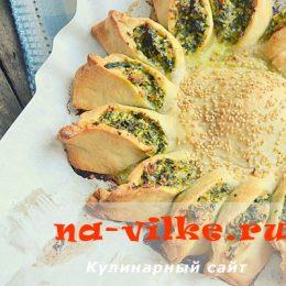 Полезный и вкусный пирог с творогом в виде солнышка