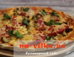 Готовим вкусную и яркую пиццу с рапанами