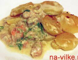 Рыбная запеканка с картофелем - 1 порция