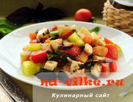 Салат из помидор и брынзы с итальянскими травами