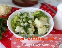 Салат из цветной капусты с зеленью
