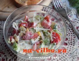 Салат из айсберга со свежими овощами