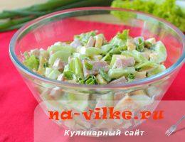 Готовим простой и вкусный салат с ветчиной, огурцами и яйцом
