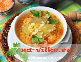 Пошаговое приготовление чечевичного супа с овощами