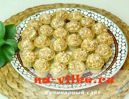 Тарталетки с аппетитной начинкой из печени трески, яиц, сыра