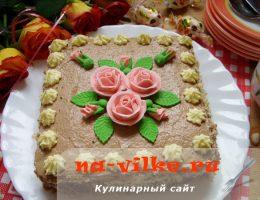 Киевский торт с розочками