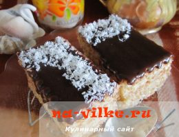 Вафельный торт с кремом из сгущенки